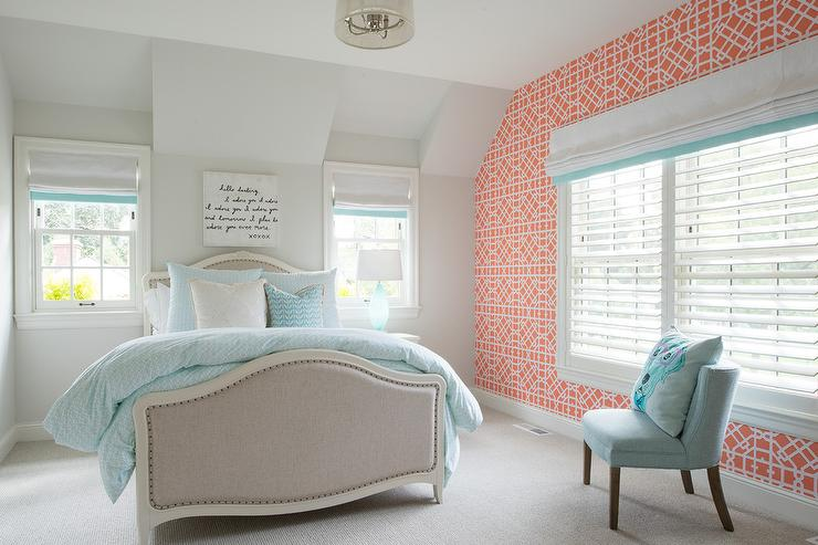 Coral Pink And Blue Girl Bedroom Part 76