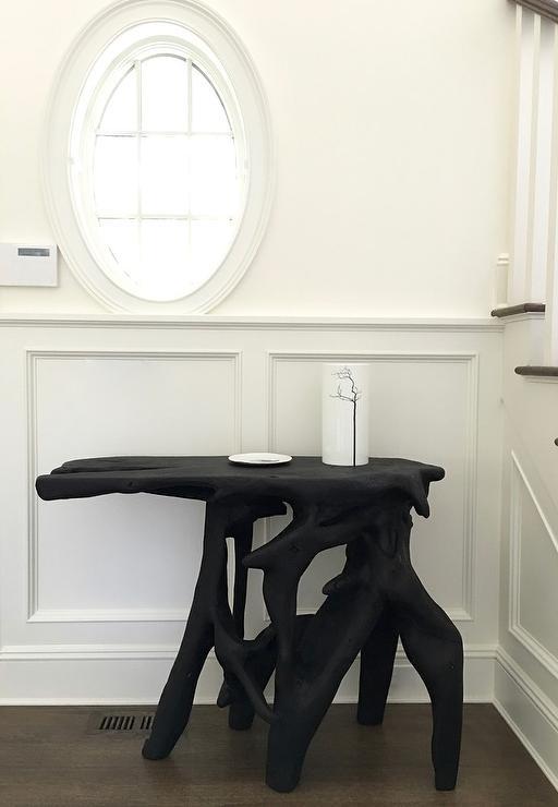 Black Foyer Console : Black foyer console table design ideas
