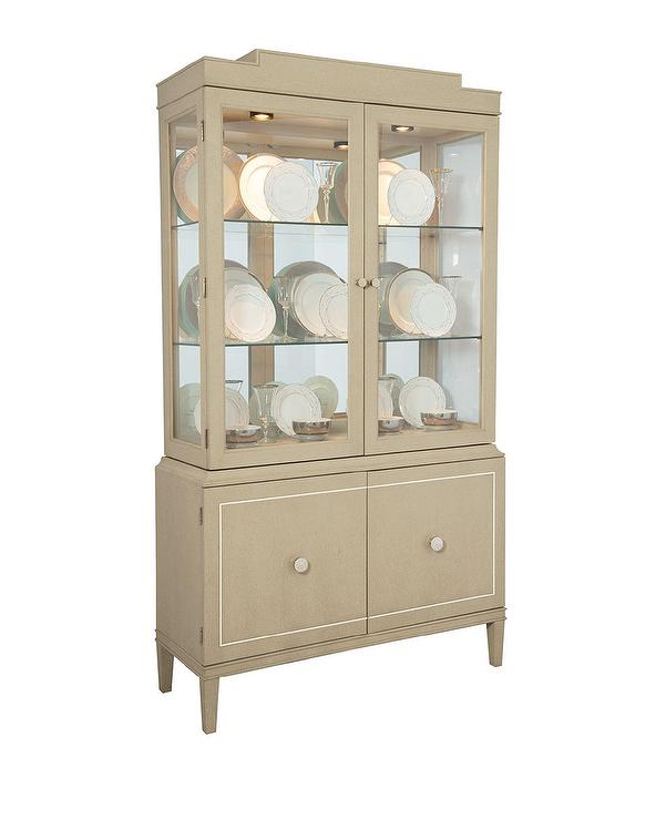 Ophelia Wood Glass Door Display Cabinet