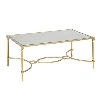 antique mirror gold metal coffee table - products, bookmarks