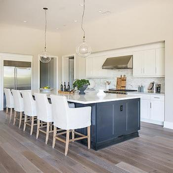 Blue And Gray Beach Bungalow Kitchen With Arteriors Caviar
