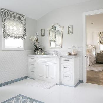 bathroom baseboard ideas. white washsatnd with cream bone inlay mirror bathroom baseboard ideas