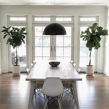 Gray Chandelier Cottage Dining Room Bella Mancini Design
