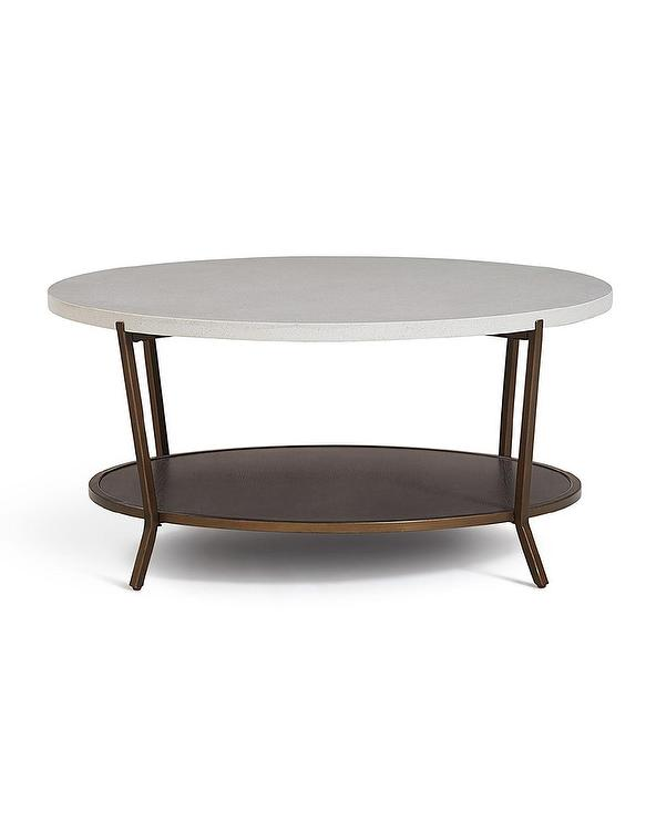gray geo hex coffee table