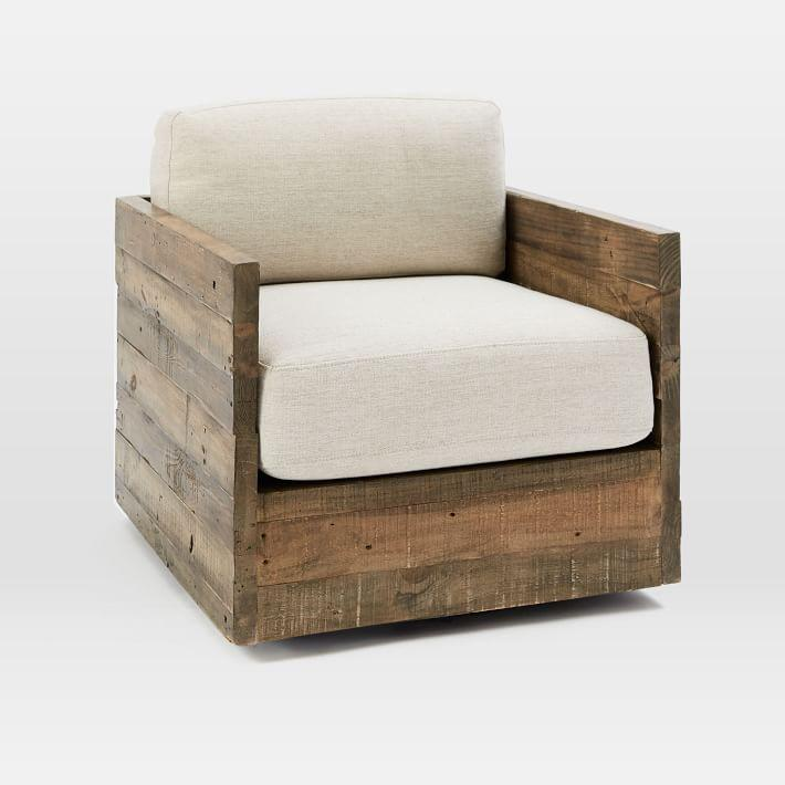 Emmerson Reclaimed Wood Swivel Chair