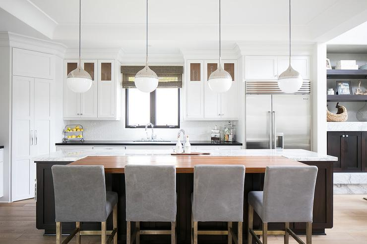 Island Pendant Lights Transitional Kitchen - Kitchen counter pendant lighting