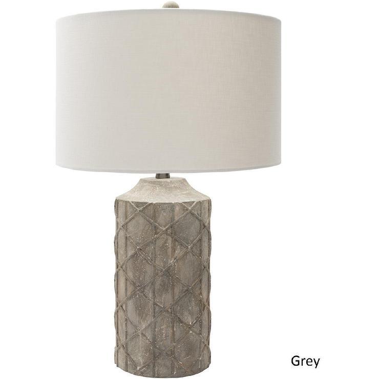 Neutral Drum Linen Lamp Shade
