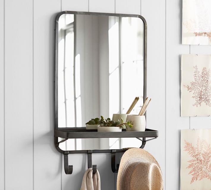 Wall Mirror With Shelf gold floating shelf wall mirror