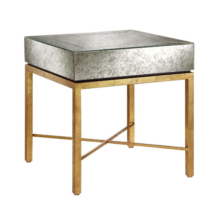 Oralee Gold And Silver Side Table