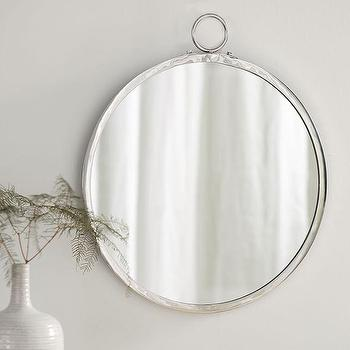 Logan Round Silver Wall Mirror