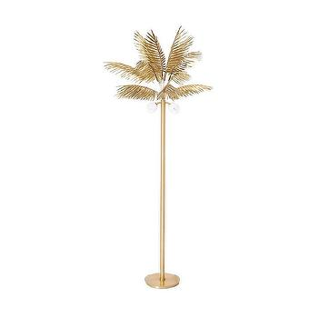 Gold Palm Tree Floor Lamp Look 4 Less And Steals And Deals