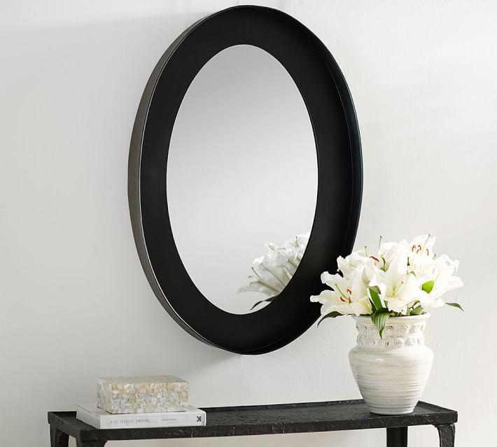 black oval frame wall mirror - Mirror With Black Frame