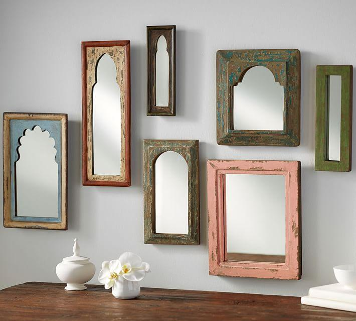 Isabella Distressed Vintage Frame Mirrors