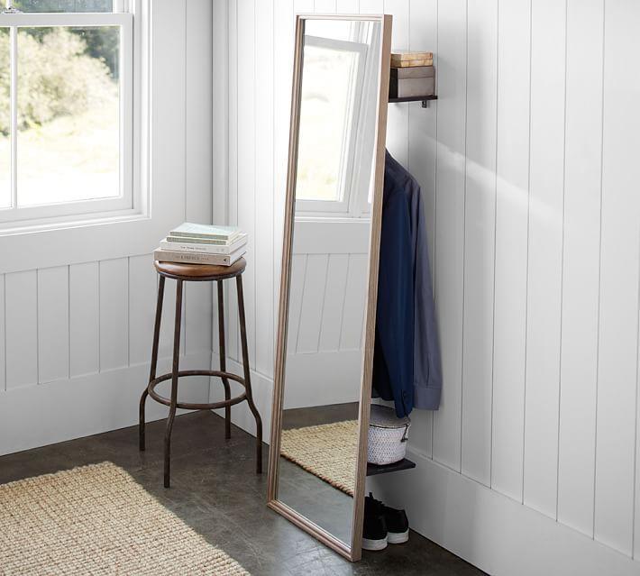 Clothing Rack Floor Mirror