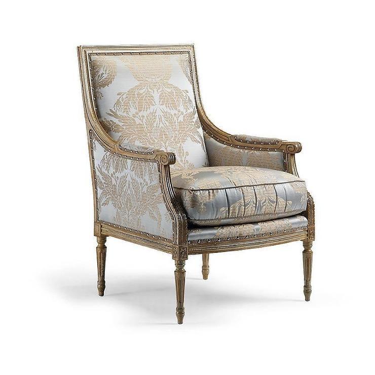 sc 1 st  Decorpad & Firenze Gray Beige Damask Armchair