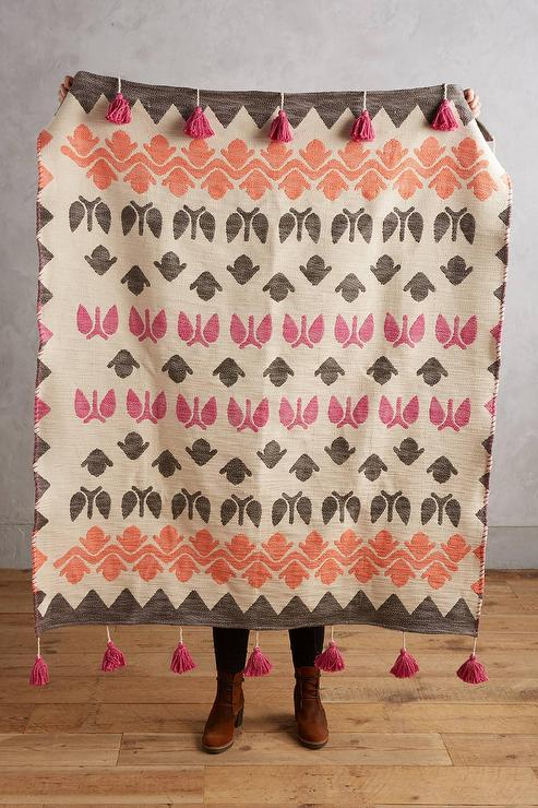 Peach Colored Throw Blanket