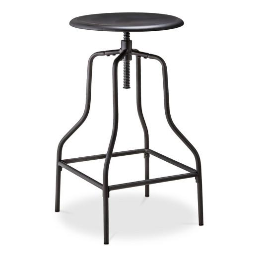 Safaree Industrial Wood Swivel Stool