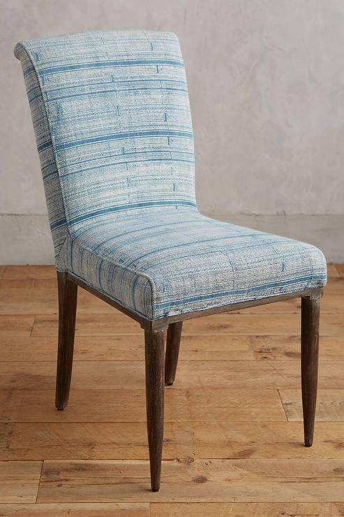 Blue Stripe Eliane Dining Chair