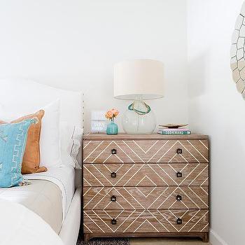 Mirror Nightstand Transitional Bedroom Munger Interiors
