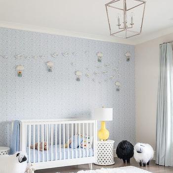 Blue Boy Nursery With Blue Accent Wall