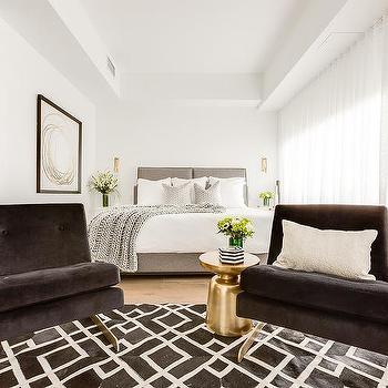 Armless Black Velvet Bedroom Chairs Design Ideas