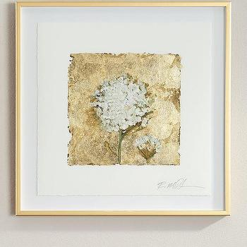 Tommy Mitchell Gilded Gold Flower Studies Wall Art