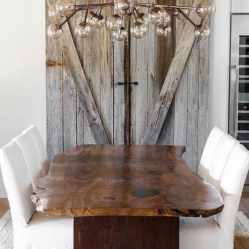 dining room barn door on rails - Modular Dining Room