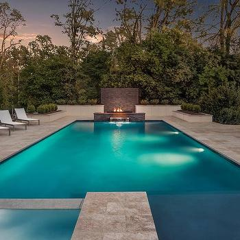 Pool Waterfall Fire Pit Design Ideas