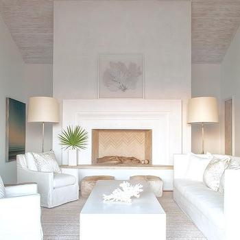 stucco fireplaces. White Beach Style Living Room Stucco Fireplace And Hearth Design Ideas
