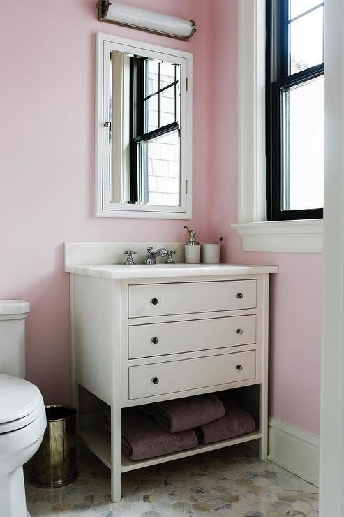 Soft Pink Bathroom Design