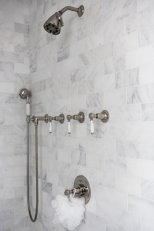 Vintage Shower Kit with Levers - Transitional - Kitchen