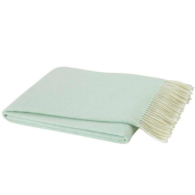 Mint Italian Herringbone Throw Awesome Italian Throw Blanket