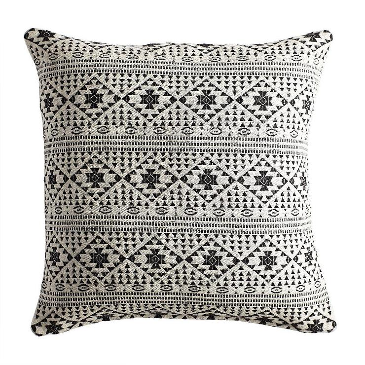 Black And White Jacquard Square Pillow Cover Awesome Primitive Pillow Covers
