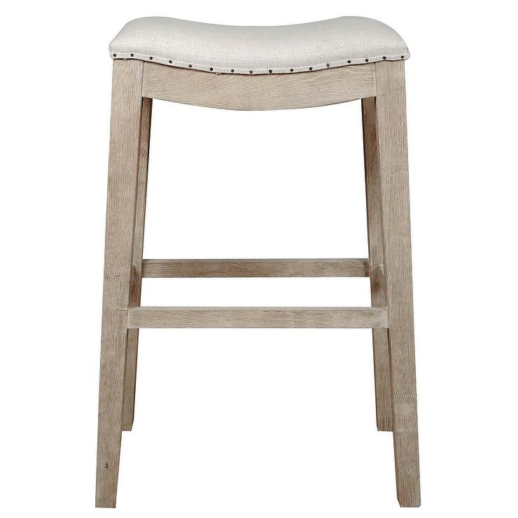 John Vogel Bar Counter Stool Flax Chocolate West Elm