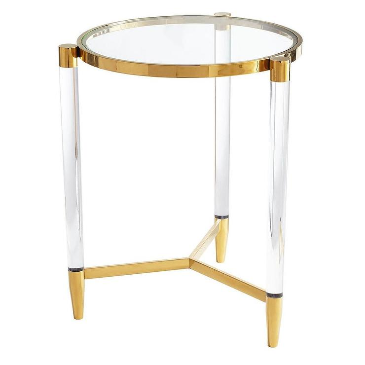 Superior Nouveau Modern Glass Round Side Table