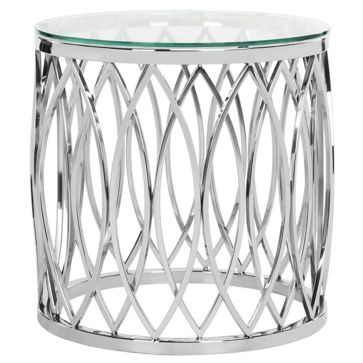 April Glass Top End Table
