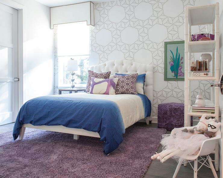 Contemporary Kid Room With Purple Sofa Contemporary Girl 39 S Room
