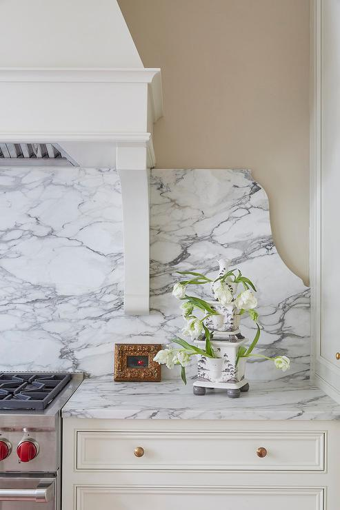 curved marble stove backsplash