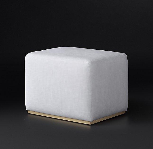 Admirable Rex White Cube Brass Ottoman Creativecarmelina Interior Chair Design Creativecarmelinacom