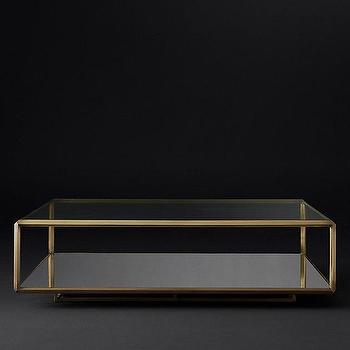 Troy Recntangle Glass Coffee Table