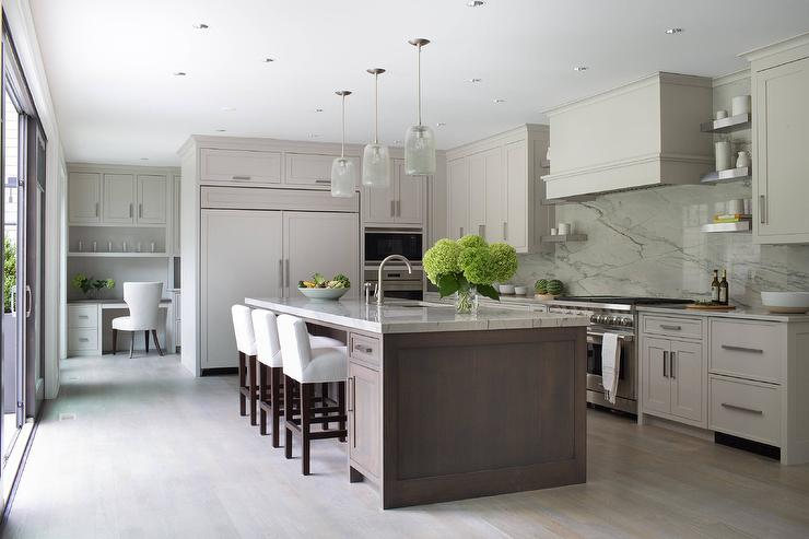 Taupe Kitchen Cabinets Eclectic Kitchen Tracery
