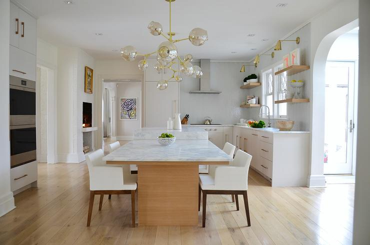 Kitchen Island With Drop Down Table Design Ideas