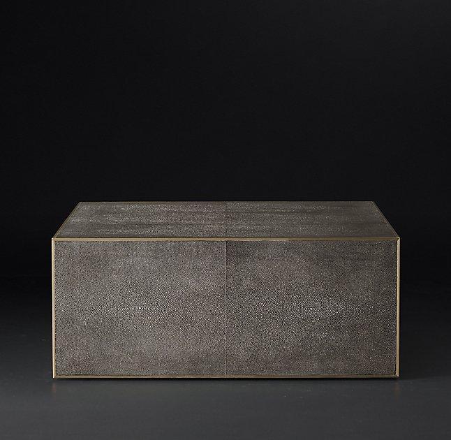 Shagreen Coffee Table Tray: Bernhardt Stockhart Metallic Shagreen Coffee Table