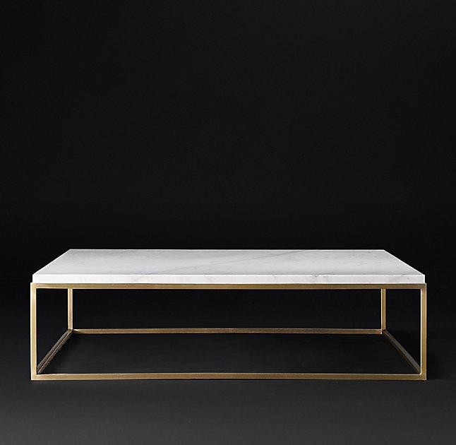 Square Coffee Table In White Marble And Black Metal Marble: White Marble Coffee Table