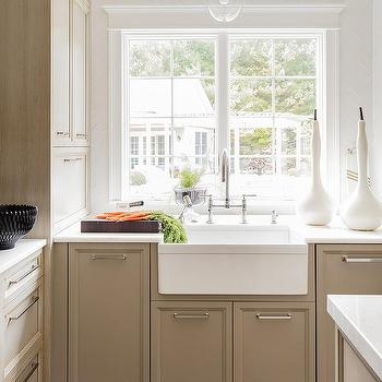 katie acorn sconce over farmhouse sink - Acorn Kitchen Cabinets