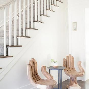 Gentil Noir Buddha Chairs And Dark Oak Herringbone Floors