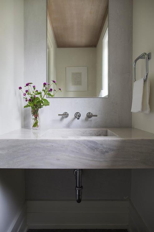 Marble Sink Contemporary Bathroom Jackson Paige