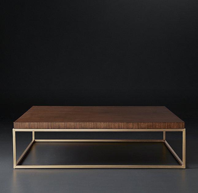 Square Metal Frame Coffee Table Rascalartsnyc