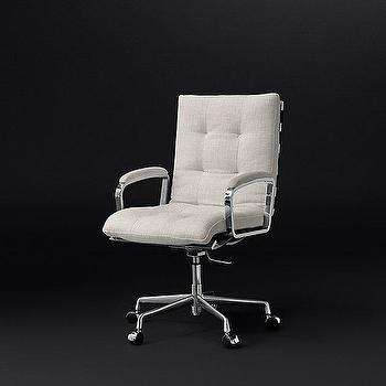 Rossi Bisque Tufted Desk Chair