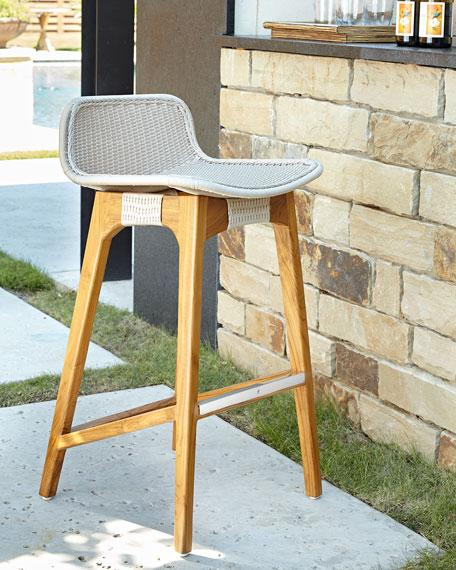 Awesome Vista Curved Back Outdoor Barstool Bralicious Painted Fabric Chair Ideas Braliciousco